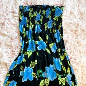 ✨ Strapless Maxi Dress Island Vibes